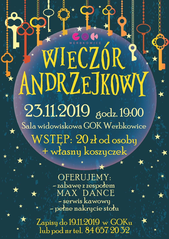 Zapraszamy na Wieczór Andrzejkowy do GOKu