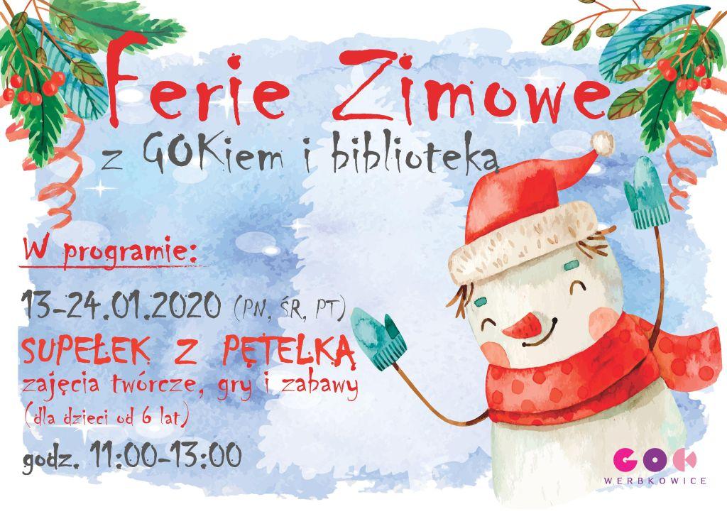 Zapraszamy na Ferie Zimowe z GOKiem i biblioteką