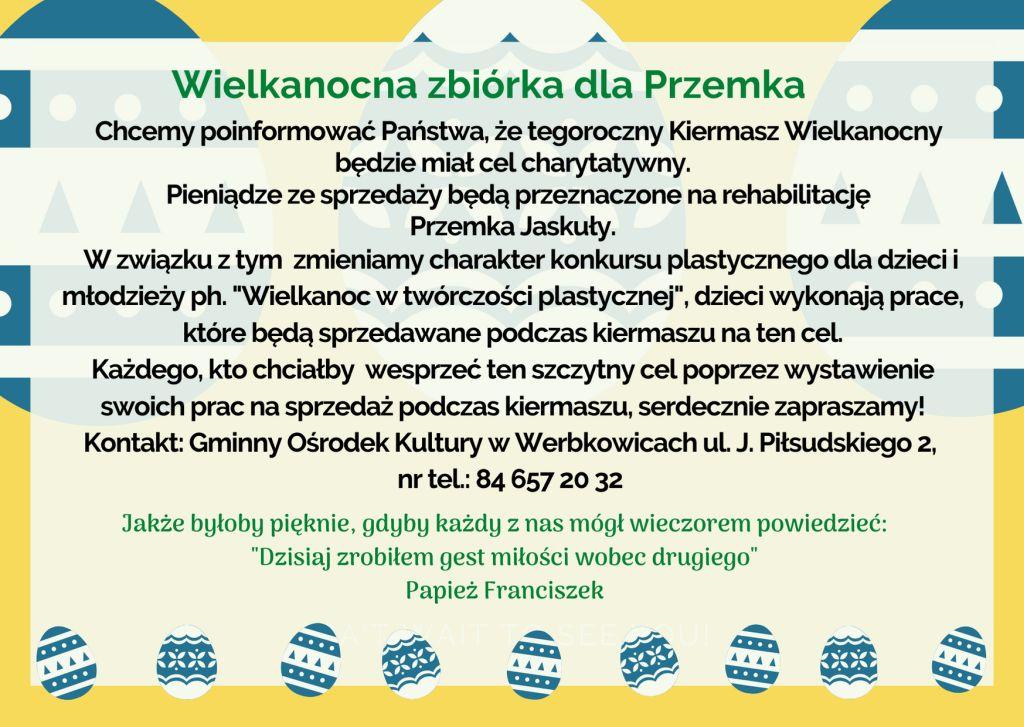 Wielkanocna zbiórka dla Przemysława